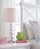 Ashley Express Furniture - Letty - L857664 - Crystal Table Lamp (1/CN), Pink