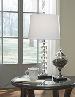 Ashley Express Furniture - Leesa - L428094 - Crystal Table Lamp (2/CN), Clear