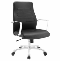 Depict Mid Back Aluminum Office Chair, Black [FREE SHIPPING]