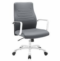 Depict Mid Back Aluminum Office Chair, Gray [FREE SHIPPING]
