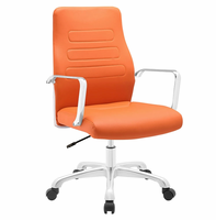 Depict Mid Back Aluminum Office Chair, Orange [FREE SHIPPING]