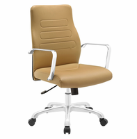 Depict Mid Back Aluminum Office Chair, Tan [FREE SHIPPING]