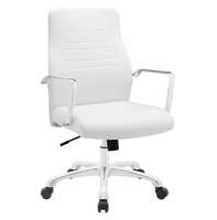 Depict Mid Back Aluminum Office Chair, White [FREE SHIPPING]