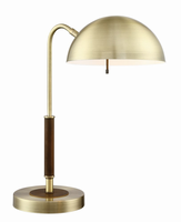Desk/table Lamp, Ab/walnut Finished, E27 Type A 60w