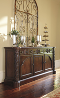 Ashley Furniture Dining Room Buffet, Dark Brown