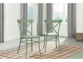 Ashley Express Furniture Dining Room Side Chair (2/CN), Light Green