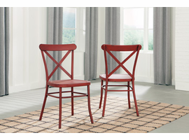 Ashley Express Furniture Dining Room Side Chair (2/CN), Red