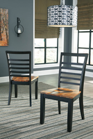 Ashley Express Furniture Dining Room Side Chair (2/CN), Two-tone Brown