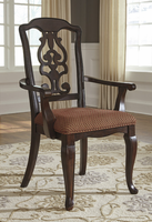 Ashley Express Furniture Dining Upholstered Arm Chair (2/CN), Brown