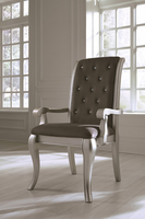 Ashley Express Furniture Dining Upholstered Arm Chair (2/CN), Gray