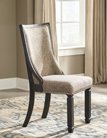 Ashley Express Furniture Dining Upholstered Side Chair (2/CN), Black/Grayish Brown