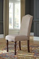 Baxenburg - D506-01 - Dining UPH Side Chair (2/CN) - Brown