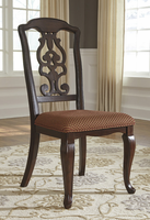 Ashley Express Furniture Dining Upholstered Side Chair (2/CN), Brown