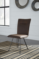 Ashley Express Furniture Dining Upholstered Side Chair (2/CN), Brown/Black