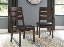 Larchmont - D442-01 - Dining UPH Side Chair (2/CN) - Burnished Dark Brown