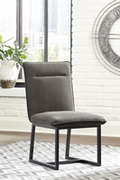 Ashley Express Furniture Dining Upholstered Side Chair (2/CN), Dark Brown