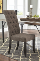 Tripton - D530-02 - Dining UPH Side Chair (2/CN) - Graphite