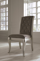 Ashley Express Furniture Dining Upholstered Side Chair (2/CN), Gray