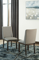 Ashley Express Furniture Dining Upholstered Side Chair (2/CN), Gray/Dark Brown