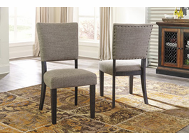 Ashley Express Furniture Dining Upholstered Side Chair (2/CN), Linen