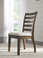 Ashley Express Furniture Dining Upholstered Side Chair (2/CN), Medium Brown