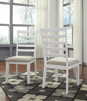 Ashley Express Furniture Dining Upholstered Side Chair (2/CN), White/Light Brown