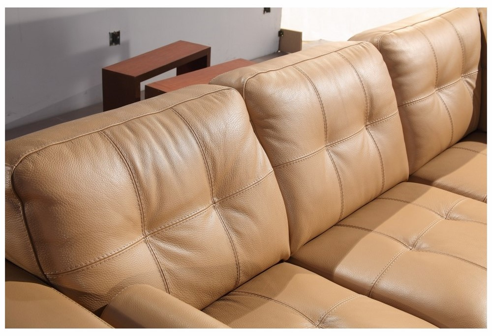 Fresh Divani Casa 306ANG Camel Leather Sectional Sofa EC38