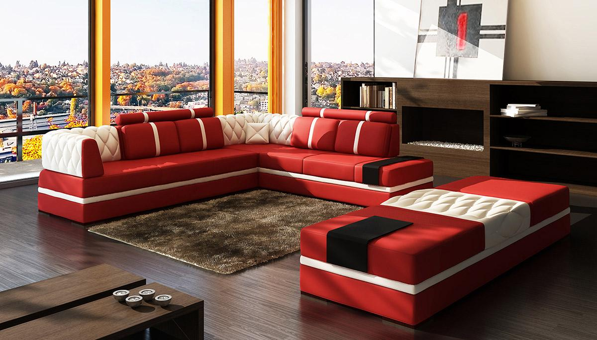 casa   modern bonded leather sectional sofa - divani casa   modern bonded leather sectional sofa