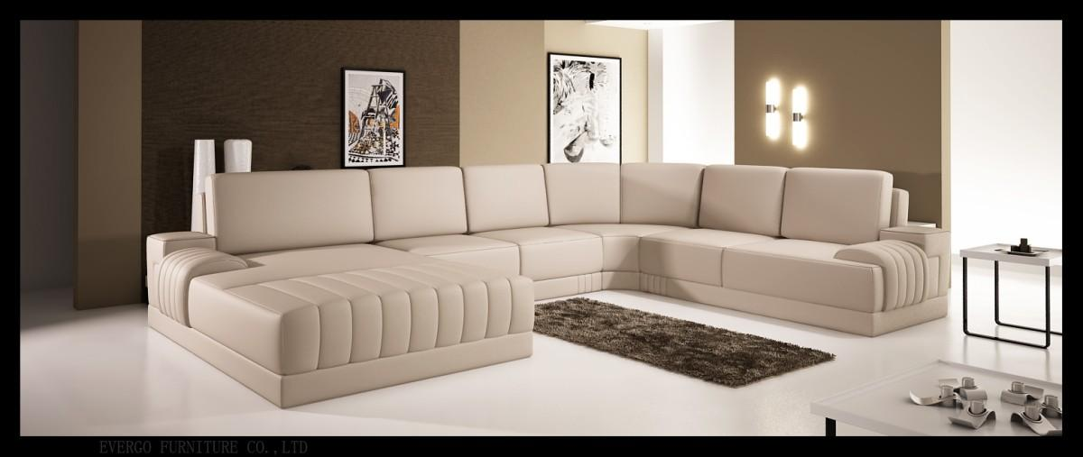 Divani Casa 5025 - Modern Bonded Leather Sectional Sofa