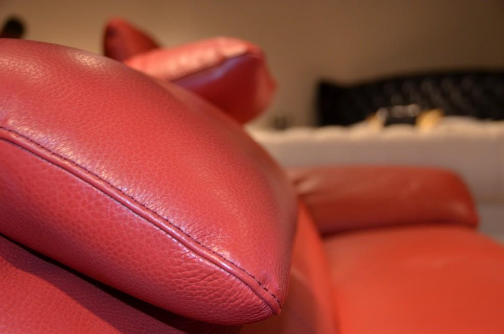 grain leather sectional sofa