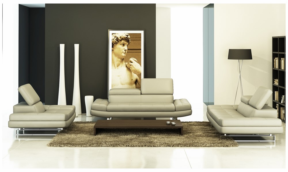 Divani Casa 957 - Modern Italian Leather Sofa Set