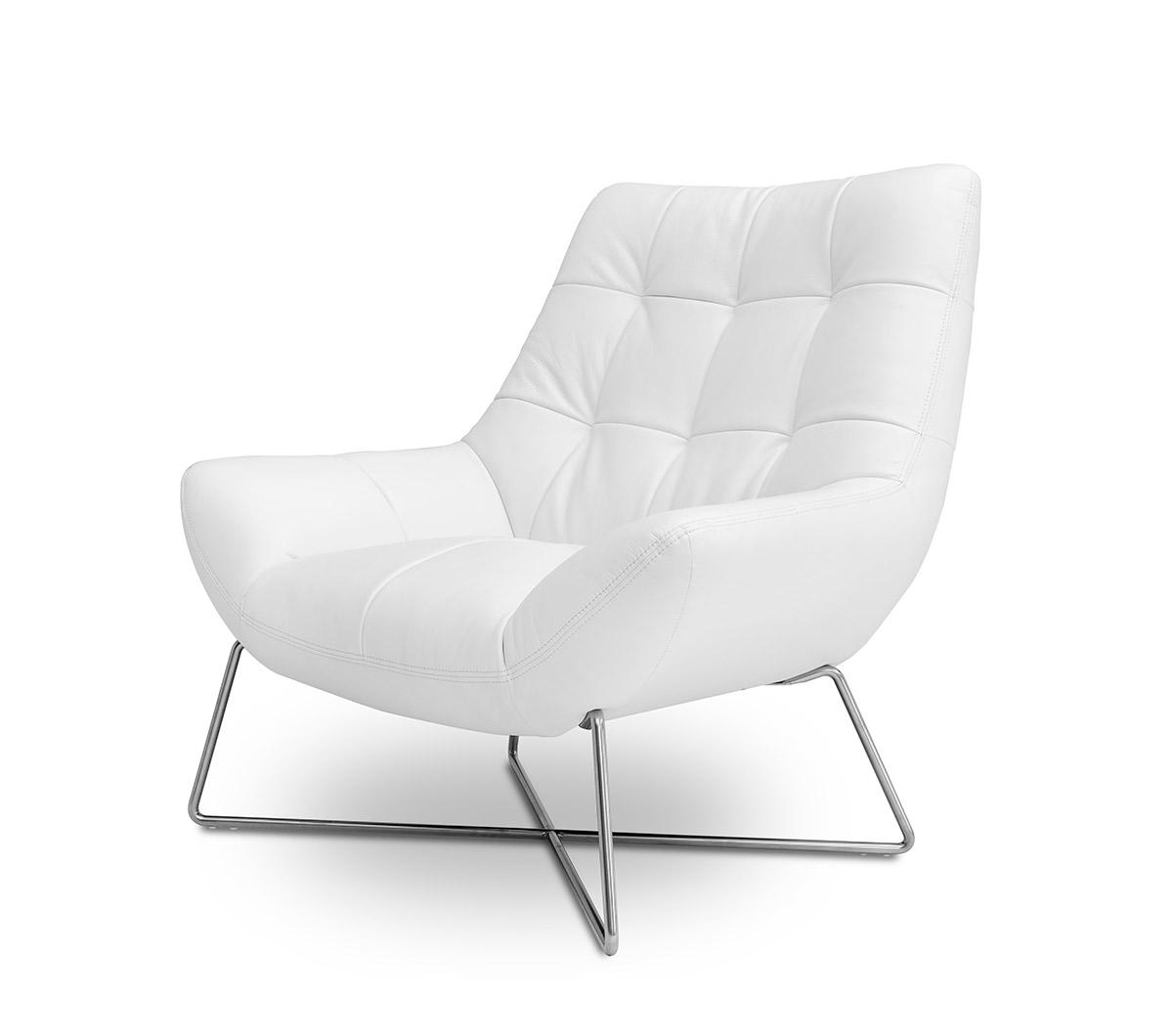 Divani Casa A728 Modern White Occasional Chair