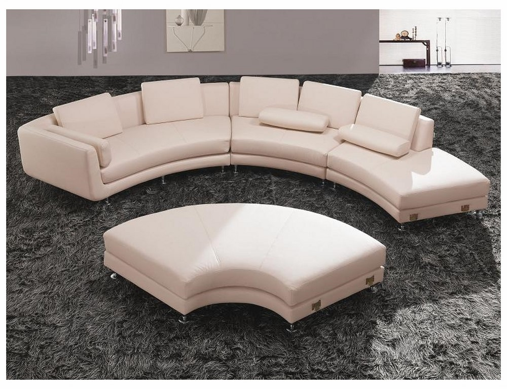 Divani Casa A94 - Contemporary White Eco-Leather Sectional ...