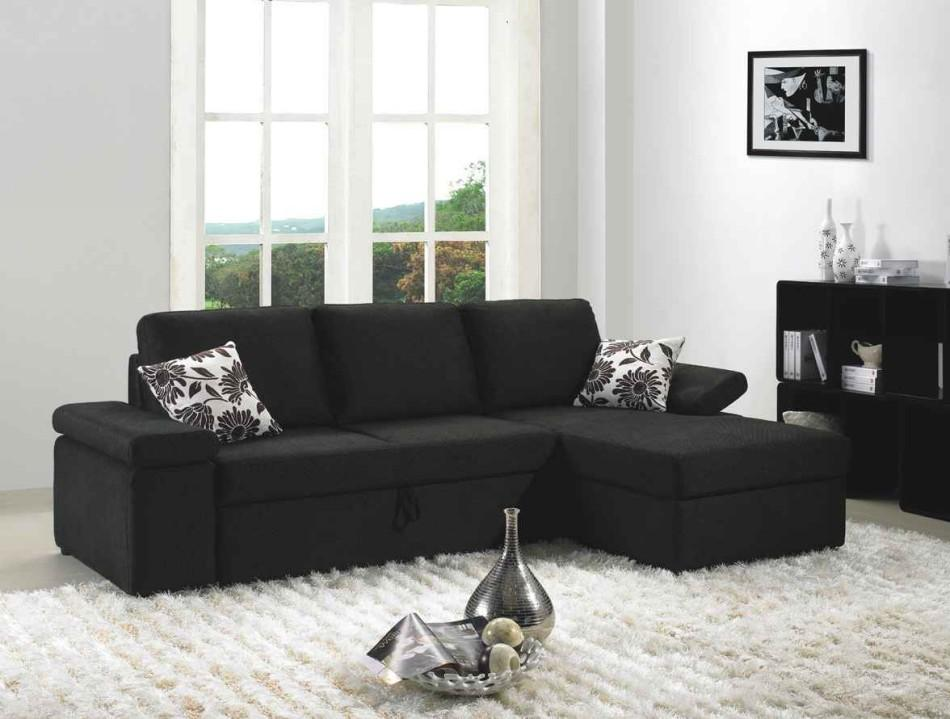 divani casa avalon two tone fabric sectional sofa set