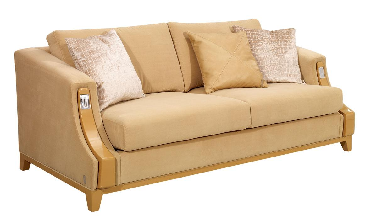Divani Casa Camel Color Fabric Sofa