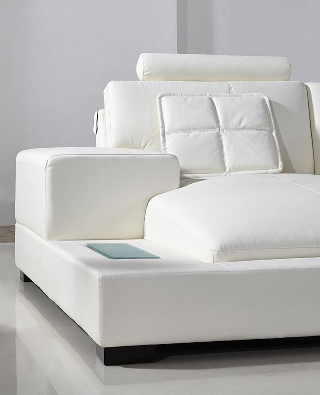 Divani casa diamond modern white leather sectional sofa - Modern sofa white ...