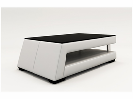 Divani Casa EV21 Modern White Bonded Leather Coffee Table