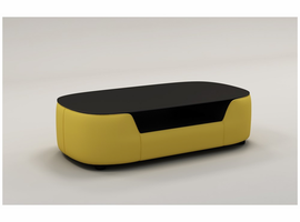 Divani Casa EV22 Modern Yellow Bonded Leather Coffee Table