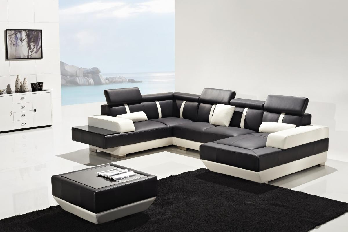 Divani Casa T286 Modern Leather Sectional Sofa
