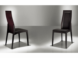 Doimo Daria Wenge Chair with Seat and Back Leather