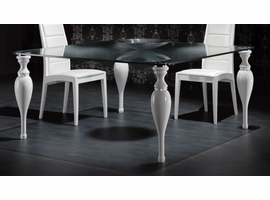 Doimo Lux Square Glass Top Table