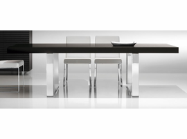 Doimo Orion Wenge Table with Stainless Steel Legs