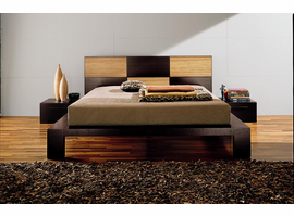 Doimo SOHO Queen Size Bed with Wood Panels