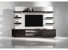 Doimo Vision 1 Wenge w/White Back Panel Finish Wall Unit