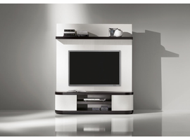 Doimo Vision 2 Wenge w/White Back Panel Finish Wall Unit 63""