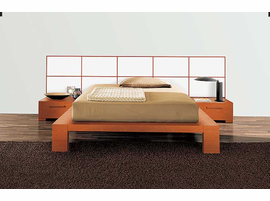 Doimo Wynd Queen Size Bed With Wood Panels