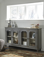 Ashley Furniture Door Accent Cabinet, Antique Gray