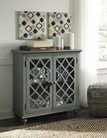 Ashley Express Furniture Door Accent Cabinet, Antique Gray