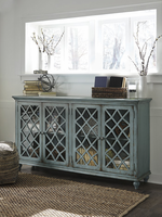 Ashley Furniture Door Accent Cabinet, Antique Teal