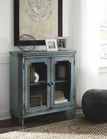 Ashley Express Furniture Door Accent Cabinet, Antique Teal